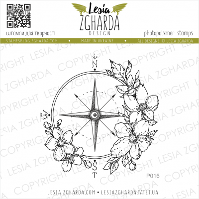 Tampon transparent Lesia Zgharda - Flower Compass
