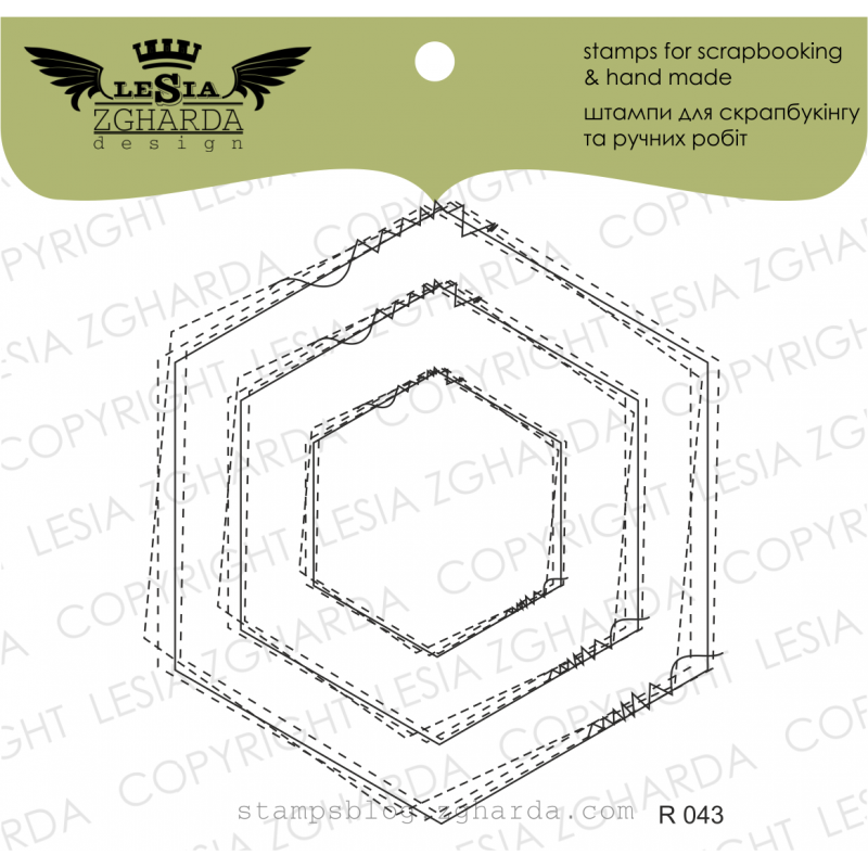 Tampons transparent Lesia Zgharda - Frame-dudling hexagon stitched