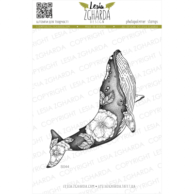Tampon transparent Lesia Zgharda - Flower Whale