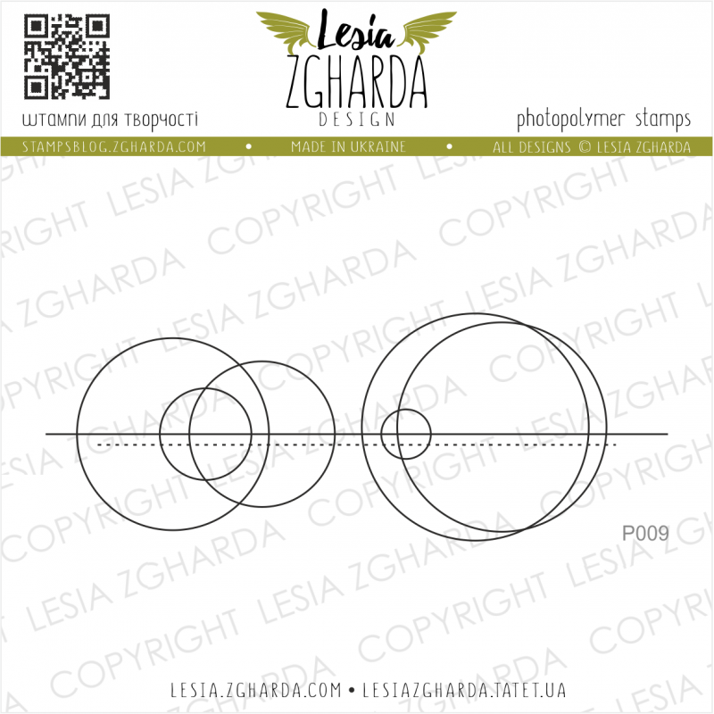 Tampon transparent Lesia Zgharda - Geometric Abstraction