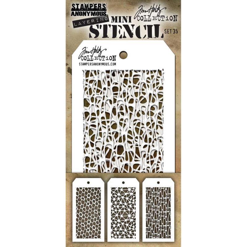 Mini Layered Stencil Tim Holtz - Set 35