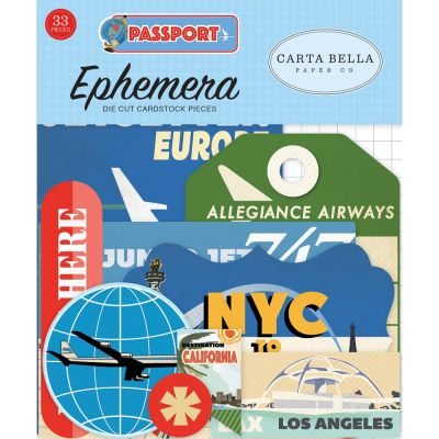 Die-cuts Ephemera Passport