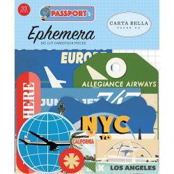 Die-cuts Ephemera Passport