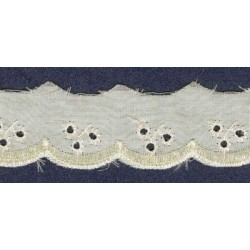Broderie anglaise ivoire