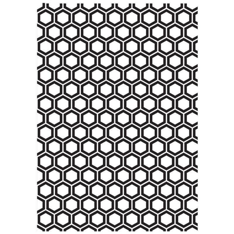 Pochoir de gaufrage KaiserCraft (grand) - Honeycomb