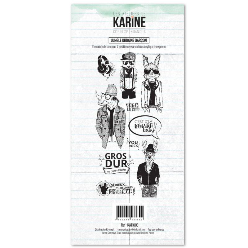 Tampons transparents Les Ateliers de Karine - Jungle Urbaine Garçon