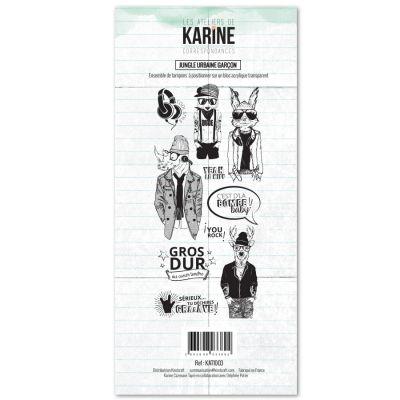 Tampons transparents Les Ateliers de Karine - Jungle Urbain Garçon