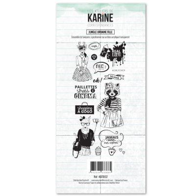 Tampons transparents Les Ateliers de Karine - Jungle Urbaine Fille