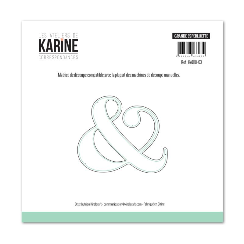 Die Les Ateliers de Karine - Collection Correspondances - Grande Esperluette
