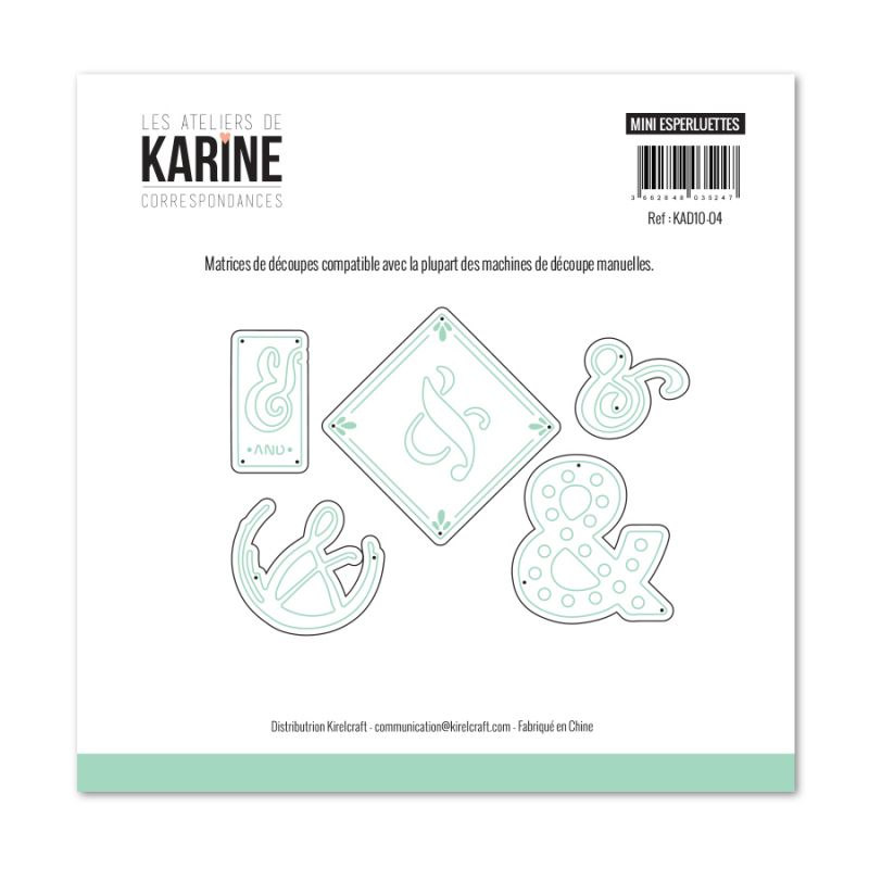 Die Les Ateliers de Karine - Collection Correspondances - Minis Esperluettes
