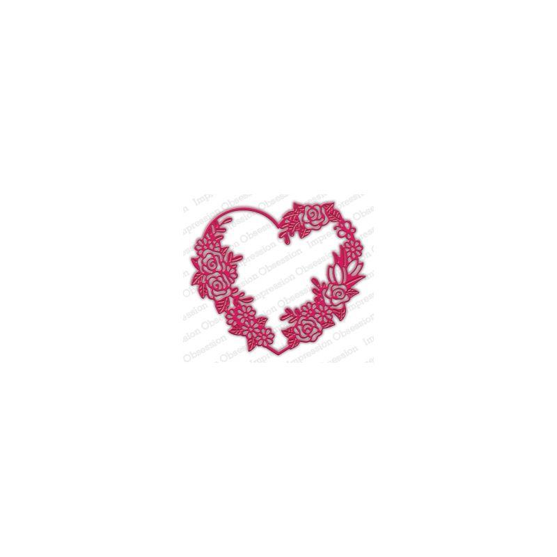 Die Impression Obsession - Floral Heart Frame