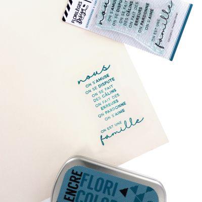Tampons transparents Florilèges - Capsules 2018 - Une Famille