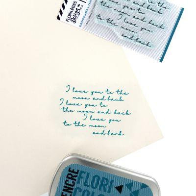 Tampons transparents Florilèges - Capsules 2018 - I love You
