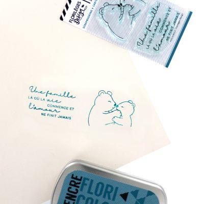 Tampons transparents Florilèges - Capsules 2018 - Famille Ours
