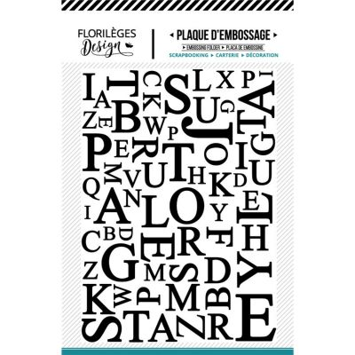 Plaque d'embossage Florilèges - Mix de Lettres