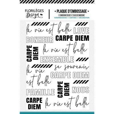 Plaque d'embossage Florilèges - La Vie est belle