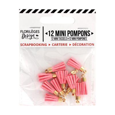 12 Mini Pompons Florilèges - Rose Thé