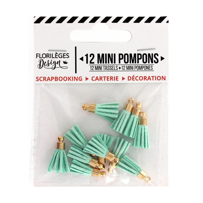 12 Mini Pompons Florilèges - Céladon