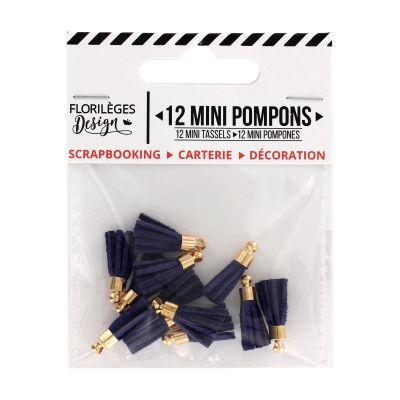12 Mini Pompons Florilèges - Outremer