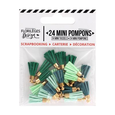 12 Mini Pompons Florilèges - Soft & Green