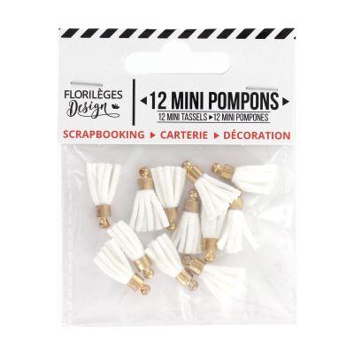 12 Mini Pompons Florilèges - Edelweiss
