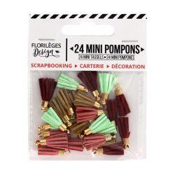 24 Mini Pompons Florilèges - Gypsy Forest