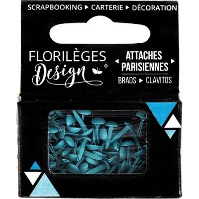 Mini Brads - Attaches Parisiennes - Florilèges - Aigue-Marine