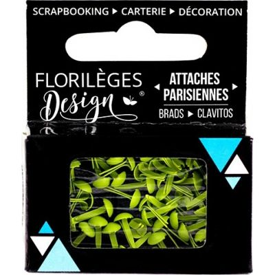 Mini Brads - Attaches Parisiennes - Florilèges - Céleri