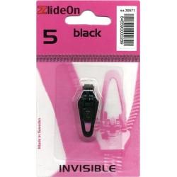 Curseur Zlide On pour fermeture zippée invisible - Noir