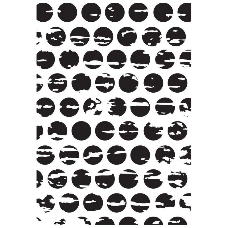 Pochoir de gaufrage KaiserCraft - Distressed Dots
