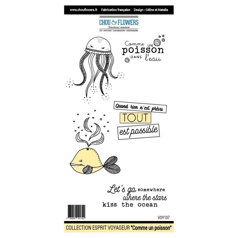 Tampons Chou & Flowers - Esprit Voyageur - Comme un poisson