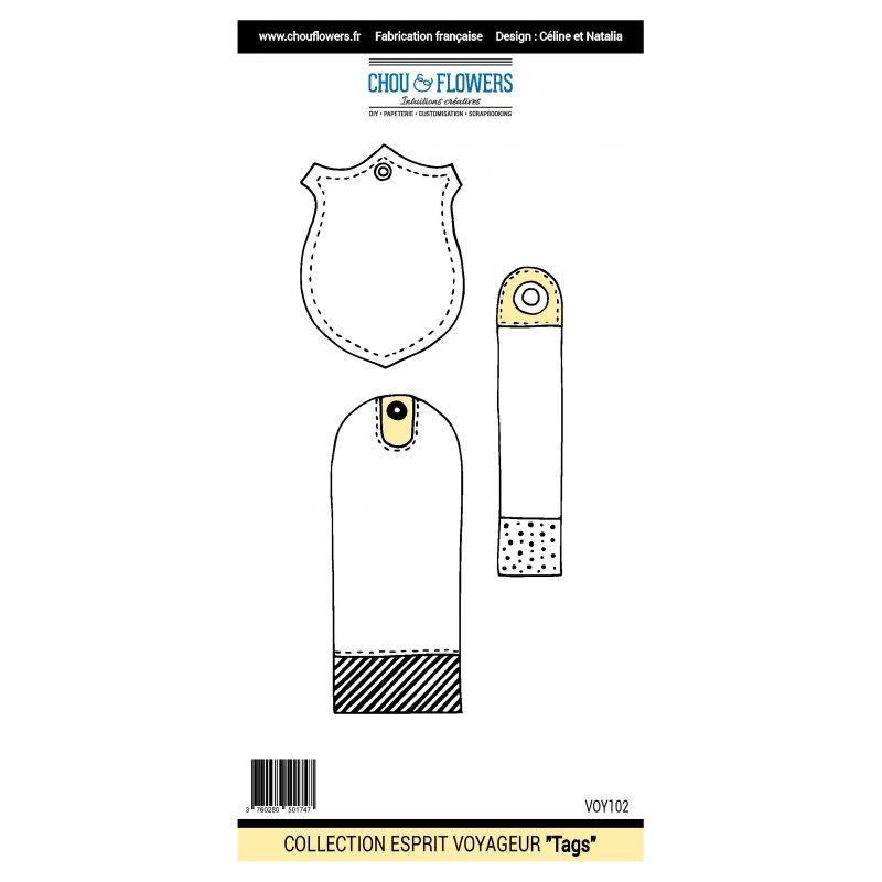 Tampons Chou & Flowers - Esprit Voyageur - Tags