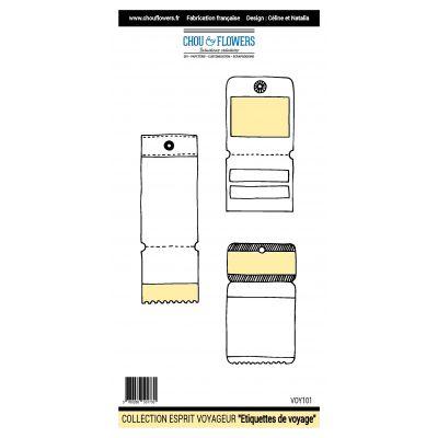 Tampons Chou & Flowers - Esprit Voyageur - Étiquettes de voyage