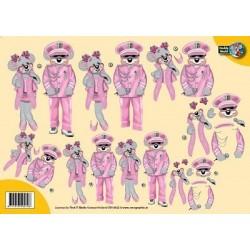 Image Carterie 3D - Souris divas en rose