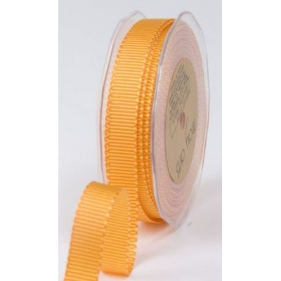 Ruban grosgrain rayé orange - jaune