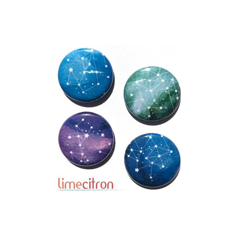 "Badges Lime Citron 1"" - Constellation"