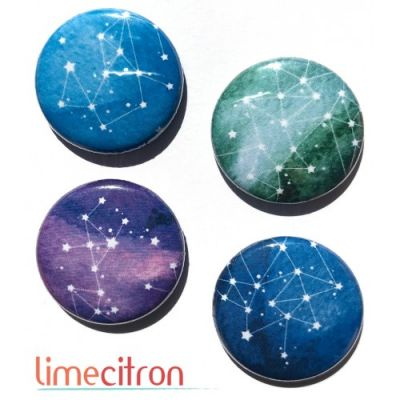 "Badges Lime Citron 1"" - Constellation"
