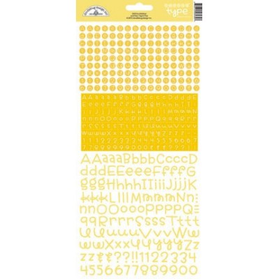 Stickers alphabet Doodlebug Teensy Type - Bumblebee