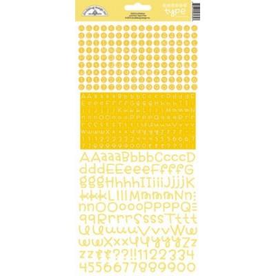 Stickers alphabet Doodlebug Teensy Type - Bumblebee