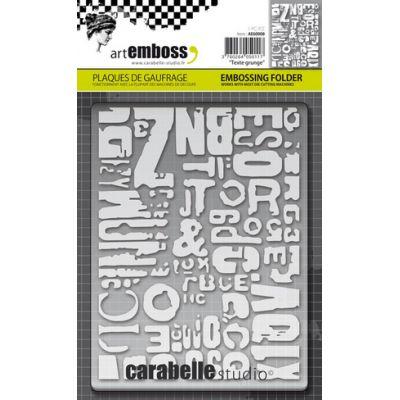 Pochoir de gaufrage Carabelle - Texte Grunge