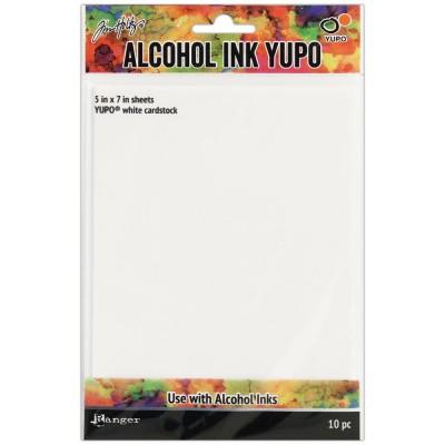 Papier Yupo blanc 12.6x17.8 cm (10 feuilles)
