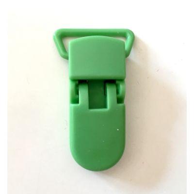 Pince clip plastique Attache tétine - Vert Foncé