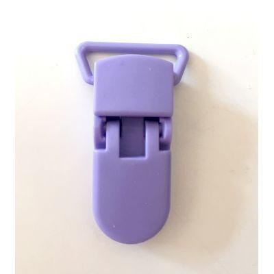 Pince clip plastique Attache tétine - Lilas