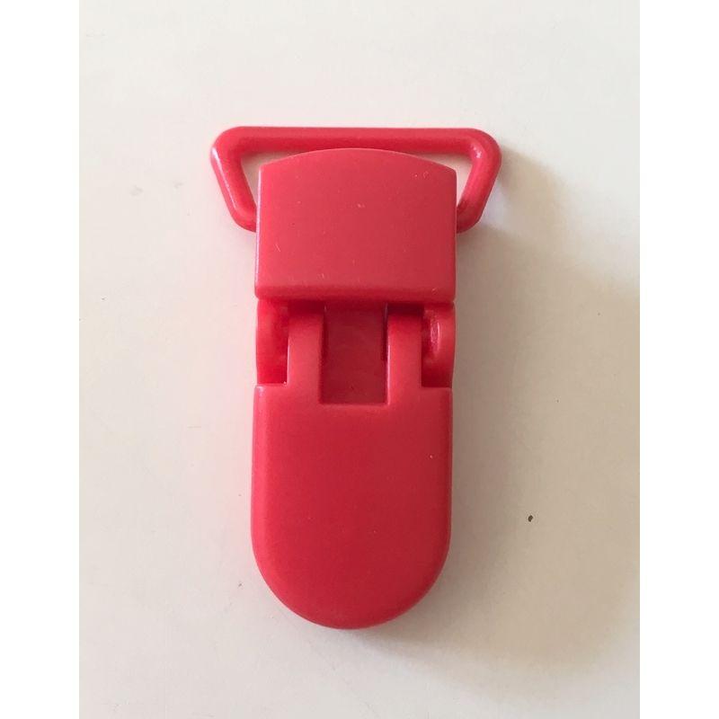 Pince clip plastique Attache tétine - Rouge