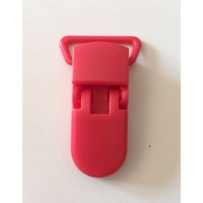 Pince clip plastique Attache tétine - Rouge