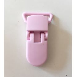 Pince clip plastique Attache tétine - Rose Layette