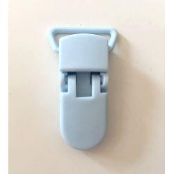 Pince clip plastique Attache tétine - Bleu Layette
