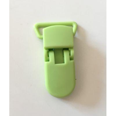 Pince clip plastique Attache tétine - Vert Clair