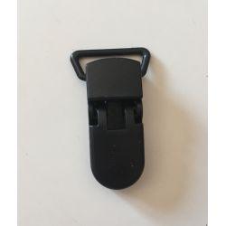 Pince clip plastique Attache tétine - Noir