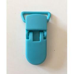 Pince clip plastique Attache tétine - Bleu Turquoise